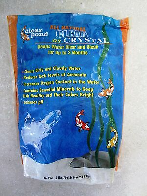 CLEAR POND - All Natural Clear as Crystal-Water Clarifier-gets rid of ammonia ++