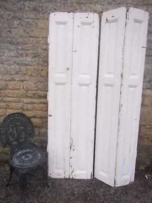 VINTAGE WOODEN SHUTTERS FRENCH FOLDING RECLAIM CLADDING 198cM TALL RECLAIMED