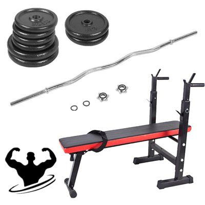 Dumbbell Set Barbell Bar Sit Up Weight Bench Weight Training Lifting Gym Fitness