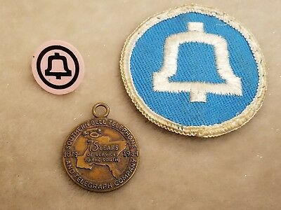 """1879-1954 SOUTHERN BELL Telephone """"75 Years Of Serving The South"""" Charm & Patch"""