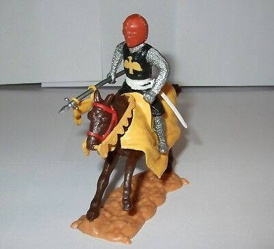Timpo Medieval Knight - Variant/Rare Brown Head - Yellow & Black Chest