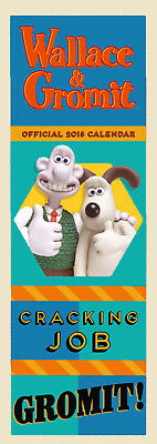 Wallace and Gromit Official 2018 Slim Calendar - BRAND NEW (SKU 315)