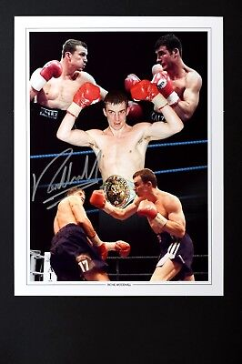 Richie Woodhall Box handsigniert Foto Authentisch Original + COA - 16x12