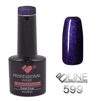 599 VB Line Midnight Dark Blue Metallic - gel nail polish - super gel polish