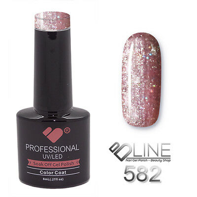 582 VB Line Rose Purple Mirror Glitter - gel nail polish - super gel polish