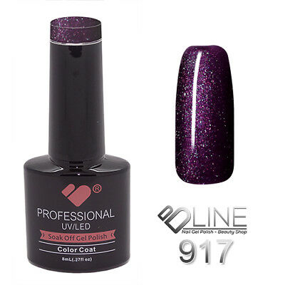 917 VB Line Purple Passion Metallic - gel nail polish - super gel polish