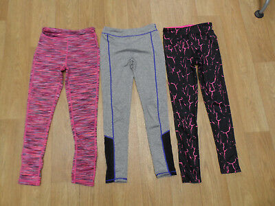 Girls Running/Exercise Leggings (x 3 pairs) - Age 8-9 years, Exc cond