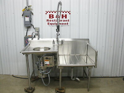 Universal SPG 5' Stainless Produce Prep Sink w/ In Sink Erator Disposal SS200-29