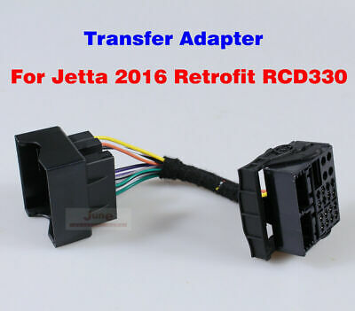 RCD330/RCD510 ISO to Quadlock Converter Transfer Adapter For VW