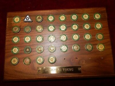 36 Carolina Power & Light company safety award pins 35 years
