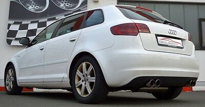 Nil 2.99in Duplex Performance Exhaust Audi A3 8P Sportback 2WD FROM Yr 2004