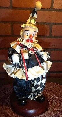 "Vintage Porcelain Clown Music Box - Price Products - 14"" - Life is a Carbaret"