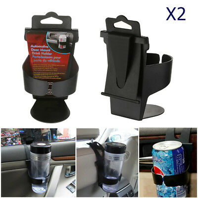 2X UNIVERSAL In Car Drinks Cup Bottle Can Holder Foldable & Clip On New