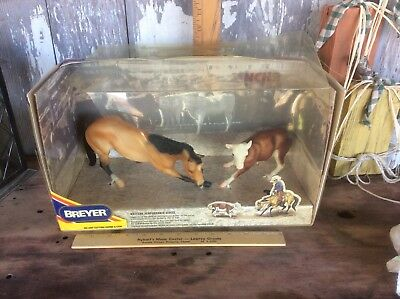 Vintage Breyer Western Performance Series, Cutting Horse & Cow In Original Box,