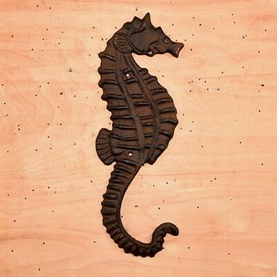 "Cast Iron ~ SEAHORSE ~ Vintage Collectable Wall Decor {  11"" x 5""  } ~ by PLD"
