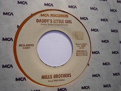 """Rare US MCA 7"""" Mills Brothers: """"Daddy's little Girl"""" / """"Daddy's little Boy"""""""