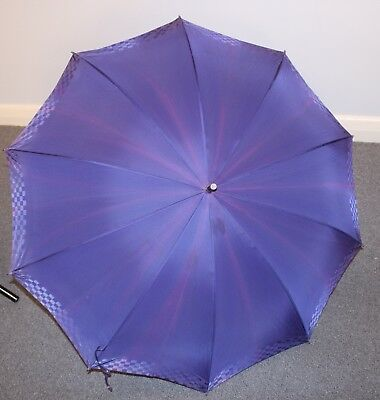 1960s ORIGINAL VINTAGE UMBRELLA BLUE