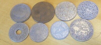 Lot Of 8 Morocco Moroccan Coin World Coins Collection