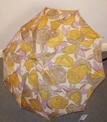 FLORAL,ORIGINAL VINTAGE 1960s UMBRELLA.