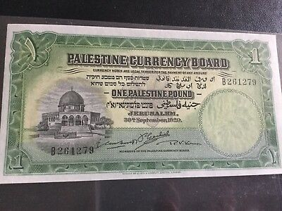 Palestine ,, 1929 one Palestinian pound bought from Spink in 2016