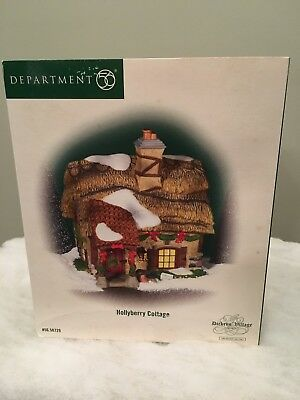 Dept 56 Dickens' Village HOLLYBERRY COTTAGE Christmas Building