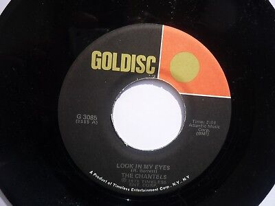 """Rare US Goldisc 7"""" The Chantels: Look in my Eyes/The Paradons: Diamonds & Pearls"""