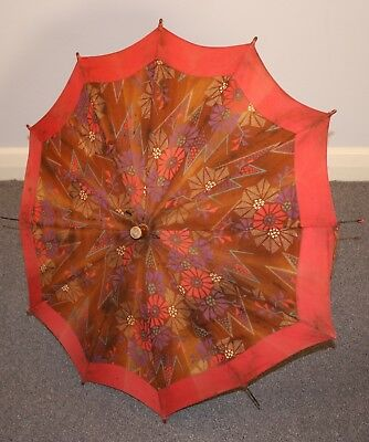 1920s / 30s ORIGINAL VINTAGE PARASOL / UMBRELLA AS IS.