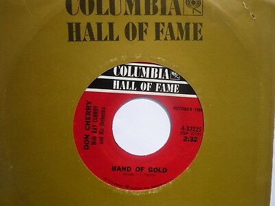 """Rare US Columbia Hall of Fame 7"""" Don Cherry: """"Band of Gold"""" / """"Ghost Town"""""""