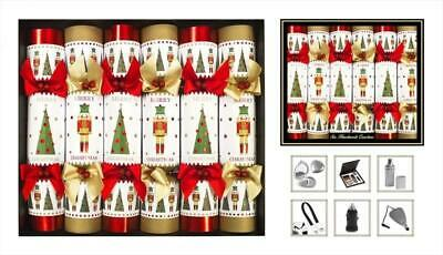6 Luxury Hand Made Christmas Crackers Xmas Dinner New Years Eve Party