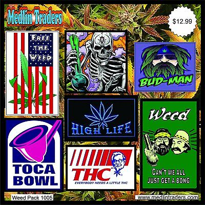 420 Lot/pack of Stickers/decals - Weed Pot Marijuana Stoner Dank, Weed Pack 1005
