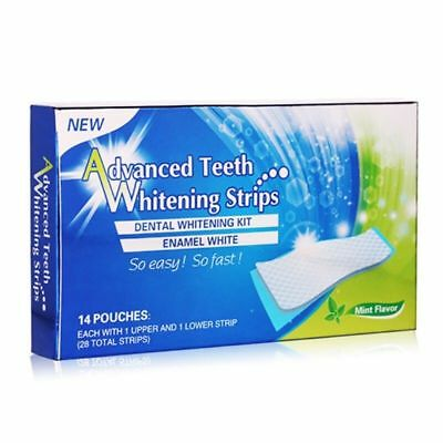 Advanced Teeth Whitening Strips - 14 Day Supply / In Retail Box - Home Bleaching