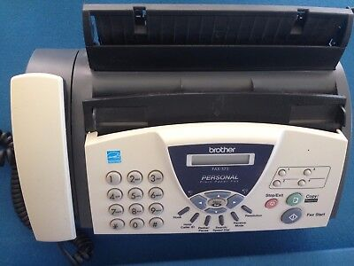 BROTHER 575 Personal Plain Paper Fax Copier and Phone Great Pre-owned Condition!