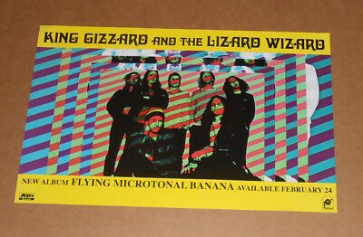 King Gizzard and the Lizard Wizard Poster 2-Sided Promo 11x17 Flying Microtonal