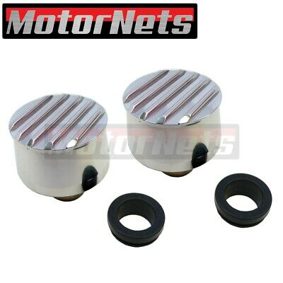 CHEVY//FORD//MOPAR BLACK BILLET ALUMINUM BREATHERS PAIR #WPM-6100//61012 SMOOTH