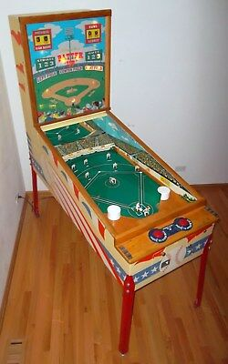 1958 Chicago Coin Batter Up Pitch & Bat Baseball Arcade Machine - FULLY RESTORED