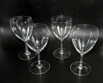 """Baccarat French Crystal Set Of 4 Chambolle 6.75"""" Tall Water Goblet Plain Wine"""