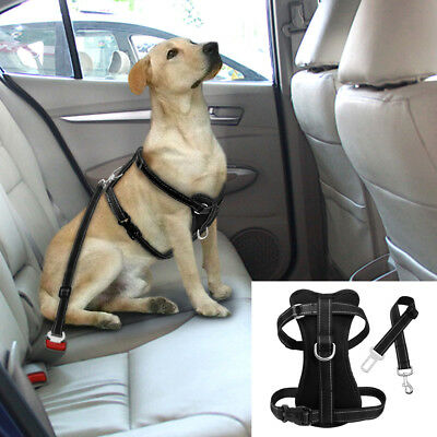 Dog Car Harness Safety Seatbelt Clip Leash Reflective for Small Large Dog Travel