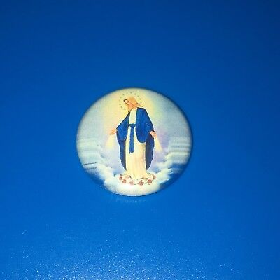 """Immaculate Conception Blessed Virgin Mary Catholic Religious 1"""" Pin Badge {A804}"""