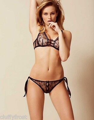 Agent Provocateur Black Summer Bra & Ouvert Or Thong Or Brief Set Bnwt Most Size