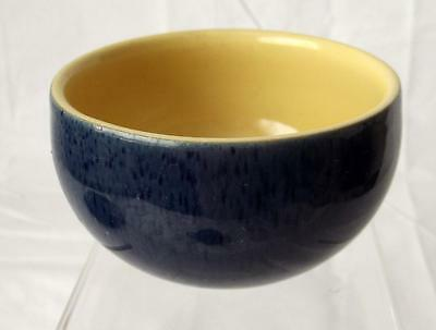 Denby Pottery Cottage Blue Pattern Sugar Bowl 9cm Dia made in Stoneware