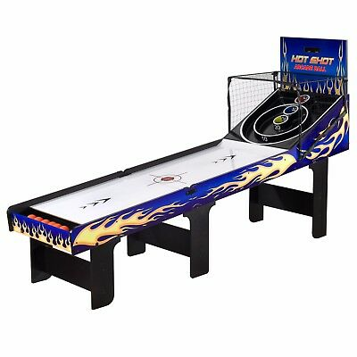 Hathaway Hot Shot Skee Ball Freestanding 8 ft Game Table Arcade Machine Bowler
