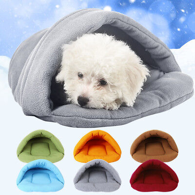 Cozy Cat/Dog Bed Soft Warm Pet Kitty Puppy House Kennel Beds Sleeping Bag Mat