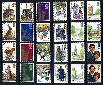 Gb Qeii Mounted Mint Commemoratives 1971 - 1981: 13 Sets/ 48 Stamps: 2 Photos