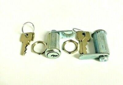 2 x 30mm POOL TABLES / FRUIT / QUIZ MACHINES Flat Key Security LOCKS with 4 Keys