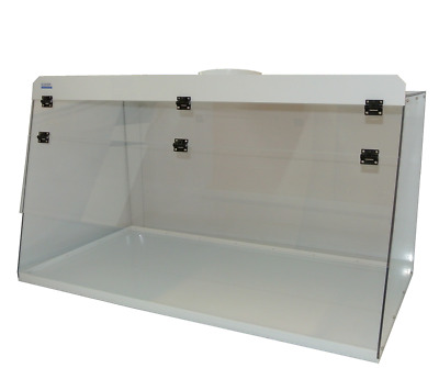 "Cleatech  Clear Polycarbonate 72"" Ducted Fume Hood w/ worksurface"
