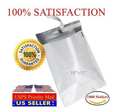 "1000 PM#4 10X13 Poly Bag Mailers Envelopes Shipping Self Sealing 2.0Mil 10""X13"""