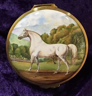 """Halcyon Days Enamels – LIMITED EDITION – George Stubbs """"Mambrino"""" Box 92 of 200!"""