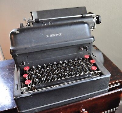IBM Antique 1930s First Electric Typewriter Rare Collectors Item