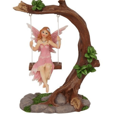NEW Fairy On Swing   Pink