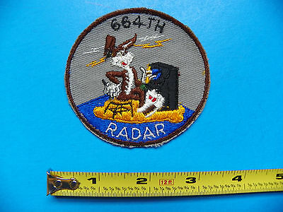 Wwii Original U.s. 664Th Radar With Bugs Bunny At The Controls Patch-No Glow